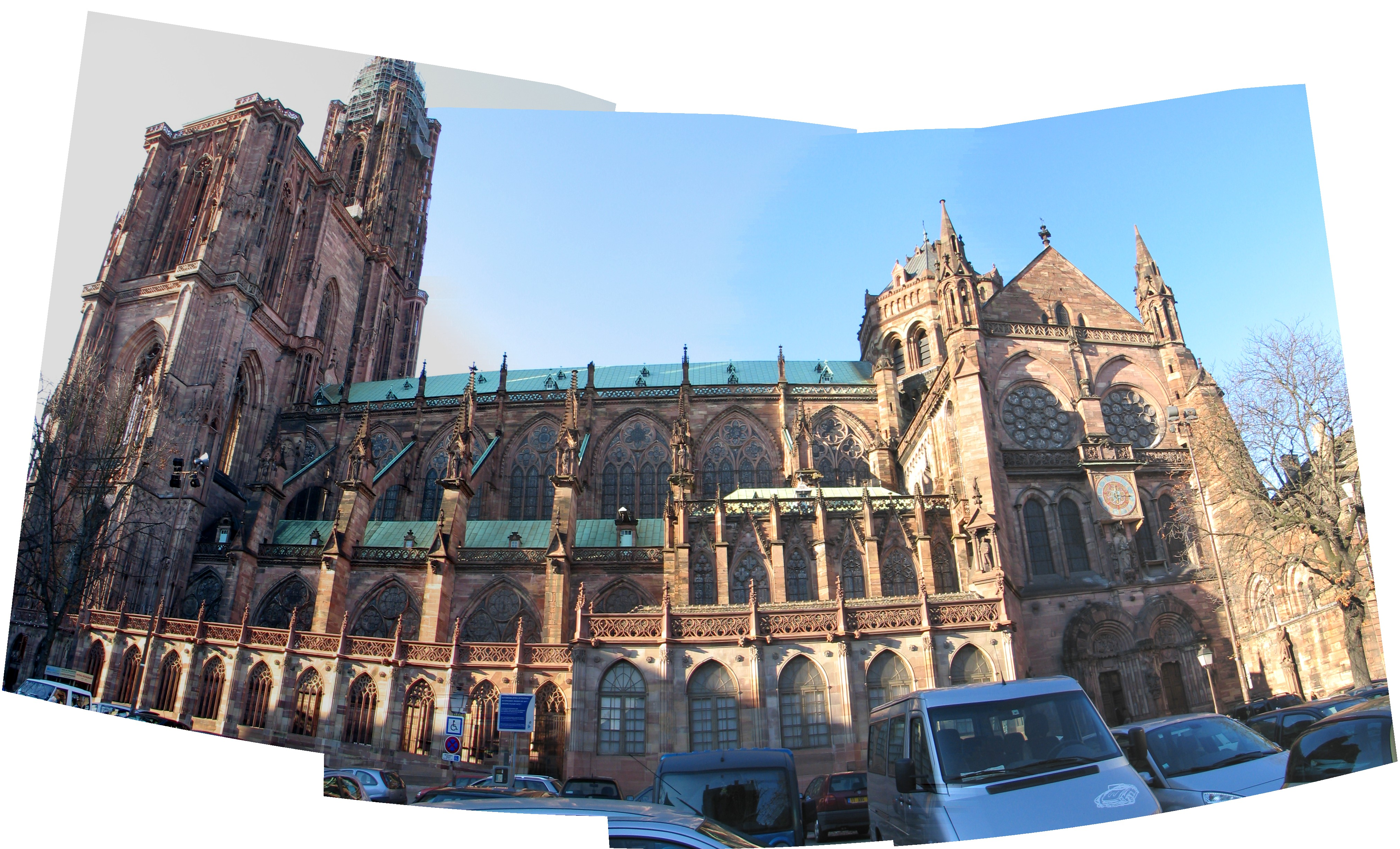 Side View Of The Cathedral In Strasbourg France